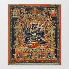 Tantric Buddhist Vajrabhairava Deity 2 Canvas Print
