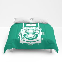 Yashica Mat 124G Camera Emerald Comforters