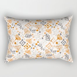 Abstract Ginkgo and Berry Pattern Rectangular Pillow