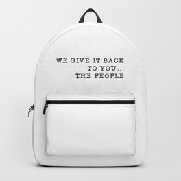 We give it back to you Backpack