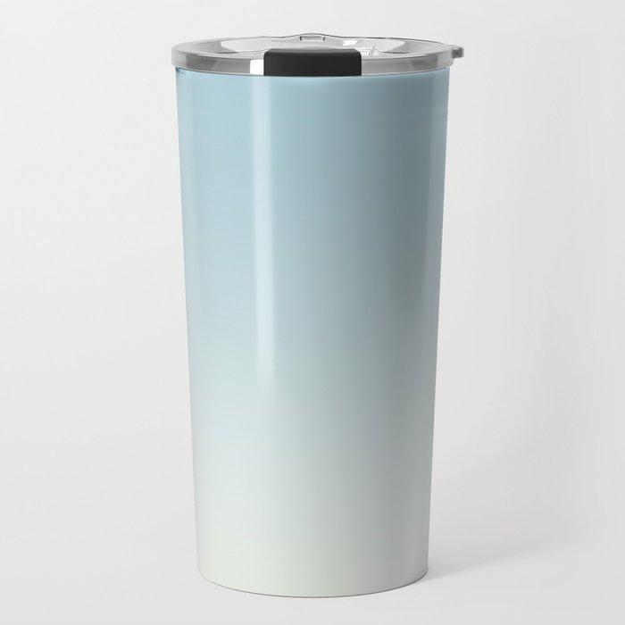 BLUE STRIKES - Minimal Plain Soft Mood Color Blend Prints Travel Mug