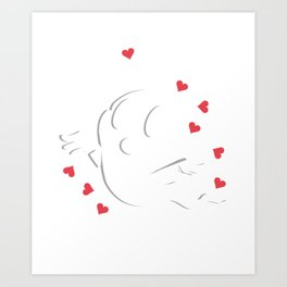 Ghost Heart Halloween Scary Love Polter Gift Art Print