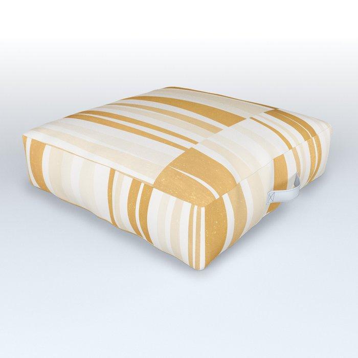 BEACHING PATTERN GOLD Outdoor Floor Cushion