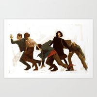 breakfast club Art Prints featuring Breakfast Club by MMCoconut