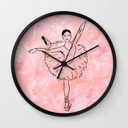 Ballet  (Ballet dancer in arabesque wearing a tutu) Wall Clock