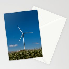 Windmill in a cornfield Stationery Cards