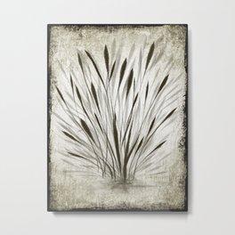 Ink Grass Metal Print