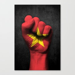 Vietnamese Flag on a Raised Clenched Fist Canvas Print