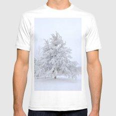 Winter Wonderland Mens Fitted Tee White MEDIUM