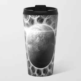 Beautiful Deep Dream Fractal Mandala of Kepler-62e Travel Mug