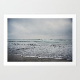 a stormy Pacific Ocean, Oceanside, California Art Print
