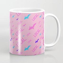 Local Upper Peninsula Cotton Candy Pattern Coffee Mug