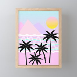 Hello Islands - Sunny Shores Framed Mini Art Print