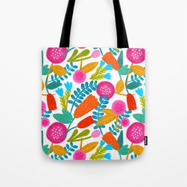 Colorful Floral Pattern Tote Bag