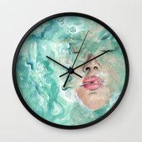 breathe Wall Clocks featuring Breathe by Pendientera