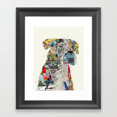 the mod boxer Framed Art Print