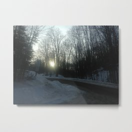 Winter Roads Metal Print