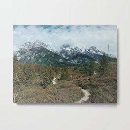 Trail to the Mountains, Grand Teton National Park Metal Print
