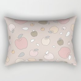Autumn apples. Pastel light Rectangular Pillow