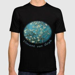 Blossoming Almond Trees, Vincent van Gogh. Famous vintage fine art. T-shirt