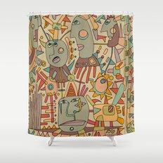- schematic - Shower Curtain