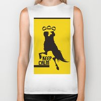 keep calm Biker Tanks featuring Keep Calm  by DibelGraphics /www.dibel.cz