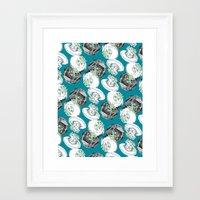 jelly fish Framed Art Prints featuring Jelly Fish by Eleanor V R Smith