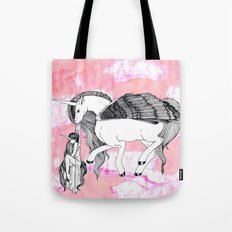 Unicorn and Her Foal Tote Bag