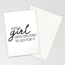 Printable Art, Just A Girl.. Wall Print, Motivational Print, Printable Modern Wall Stationery Cards