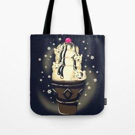 Ice Cream Bears (Dark Blue) Tote Bag