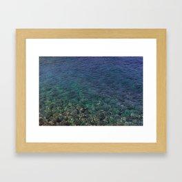Colorful Transparent Blue and Aqua Sea On Crete Framed Art Print