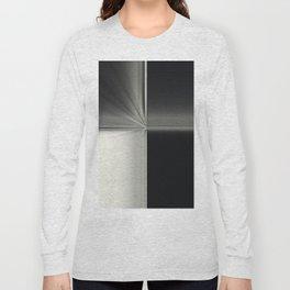 Modern Black White Block Zoom Design Long Sleeve T-shirt