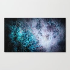 My Dreams Are Coming True : Turquoise & Lavender Canvas Print