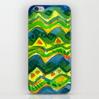 green pattern iPhone & iPod Skins featuring Green pattern by Nato Gomes