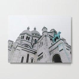 Sacré Coeur Turquoise Metal Print