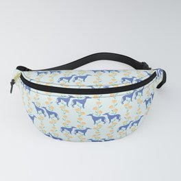 Floral Greyhounds in Yellow Fanny Pack