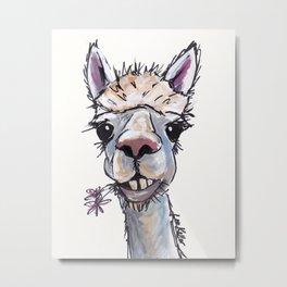 Alpaca Art, Diesel the Alpaca Metal Print