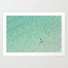 Naked swimming in Paradise Art Print