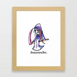 Insanity n Art's Original Reaper. Character Art. Framed Art Print