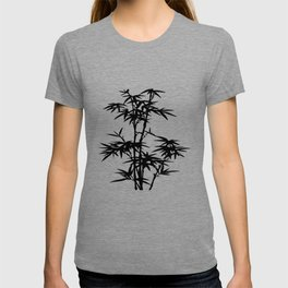 Bamboo Silhouette Black And White T-shirt