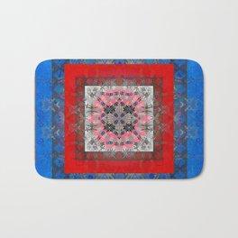 African Boho Color Study Vibrant Mandala Bath Mat