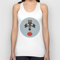 raccoon Tank Tops featuring raccoon  by Emma S