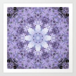Inverse Fern Light Mandala Art Print