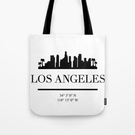 LOS ANGELES CALIFORNIA BLACK SILHOUETTE SKYLINE ART Tote Bag