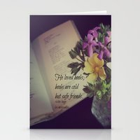 les miserables Stationery Cards featuring Books Les Miserables by KimberosePhotography