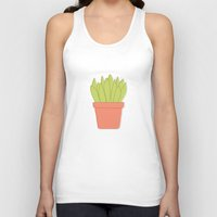 plant Tank Tops featuring Plant by Yellow Chair Design