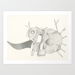 Woodland creatures »Re-ally to Nature« Art Print