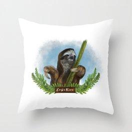 Costa Rica Sloth Throw Pillow