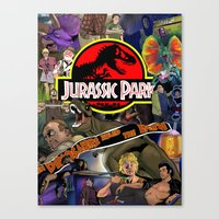 jurassic park Canvas Prints featuring Jurassic Park by JHall