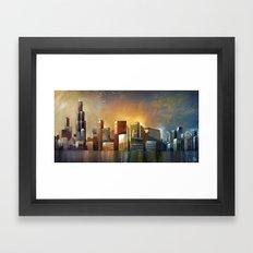 Chicago Sunrise Framed Art Print
